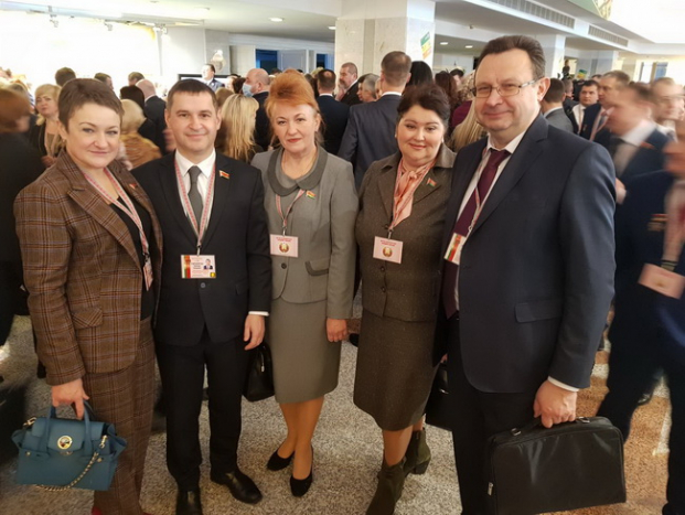 С коллегами на 6-м Всебелорусском  народном собрании 11-12 февраля 2021 года