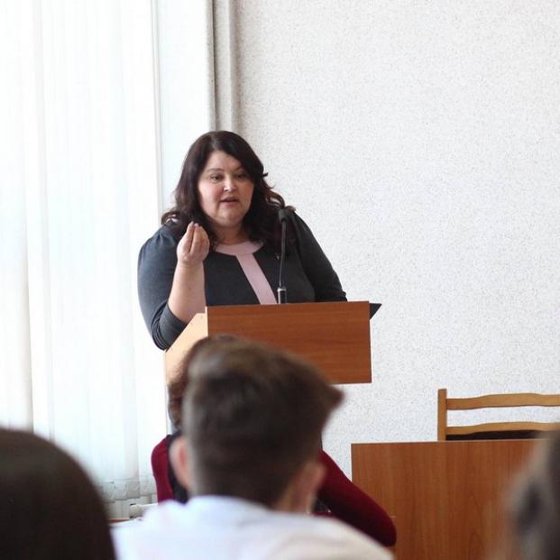 Выступление перед студентами БГЭУ